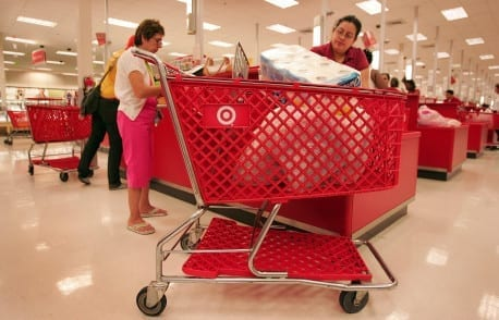 CHICAGO - MAY 23:  Shoppers pay for their merchandise at a Target store May 23, 2007 in Chicago, Illinois. Today, Target Corp. reported an 18 per cent increase in their first-quarter profit, beating analysts' expectations.  (Photo by Scott Olson/Getty Images)